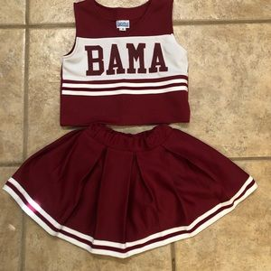 Girl's Alabama Cheer outfit